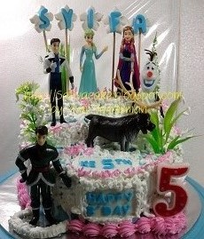 Frozen cake pesanan mbak syindi