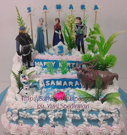 Frozen cake for samara