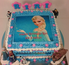 Frozen cake for riri
