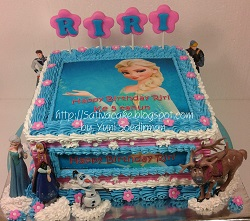 frozen cake dgn edible