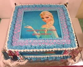 Frozen cake for Ghina
