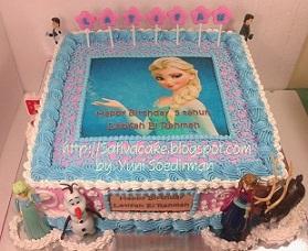 frozen cake edible image