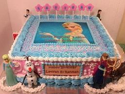Frozen cake pesanan mbak Tazkia