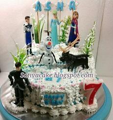 frozen cake buat Asha