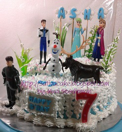 Frozen cake pesanan mbak Luky