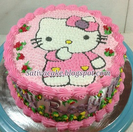 hellokitty cake buat resty
