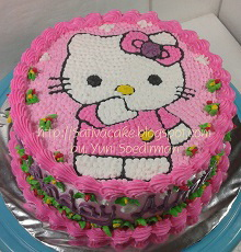Hellokitty cake for Almaira