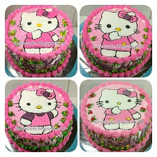 hellokitty cake karakter buttercream
