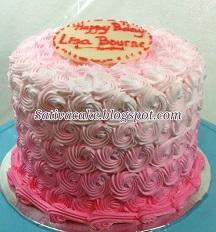 Pink Ombre Cake pesanan mbak liza