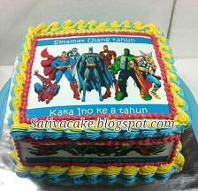 cake ultah edible pesanan bu mailani
