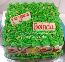 cake ultah decor buttercream