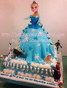 frozen cake 3D