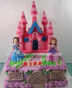 kue ultah putri sofia pesanan mbak ema