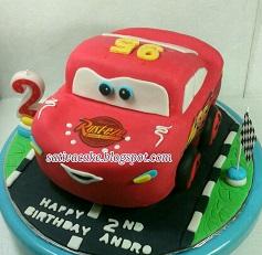 the cars cake 3D pesanan mbak nia