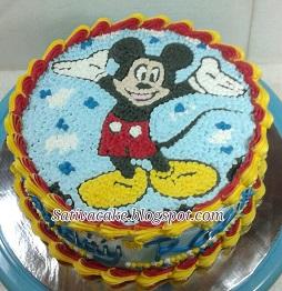 mickey mouse cake buat razil