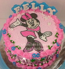 minnie mouse cake buat Felly