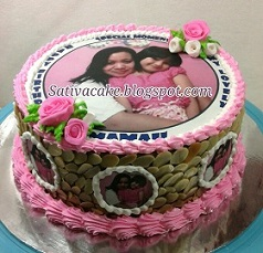 cake ultah edible pesanan pak bayu
