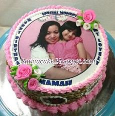 cake ultah edible buat mama kayla