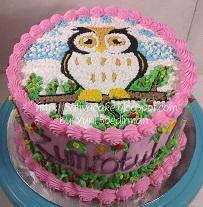 cake ultah owl pesanan pak khairul