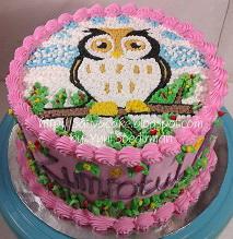 cake ultah karakter owl