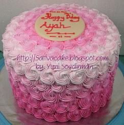 Pink Ombre Cake pesana bu susi