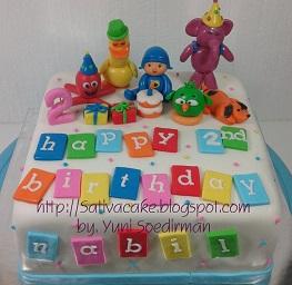 Pocoyo cake 3D buat nabil
