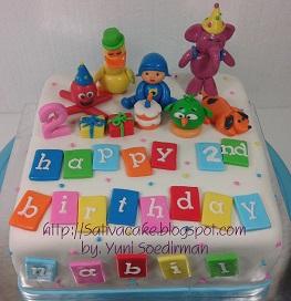 Pocoyo cake 3D pesanan mbak anggiri