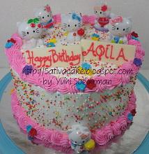 Rainbow cake pesanan mbak Ida