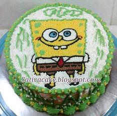 spongebob cake pesanan mbak maryanti