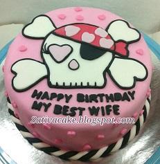 cake ultah tengkorak skull pesanan kang iwan