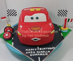 the cars cake 3D