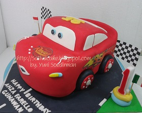 the cars cake 3D for Ahza