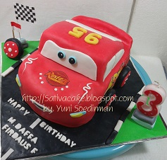 the cars cake 3D for Daffa