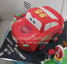 the cars cake 3D pesanan pak robert