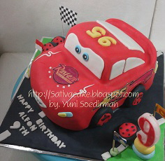 the cars cake 3D for Alfon