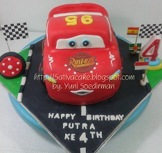 the cars cake 3D for Putra