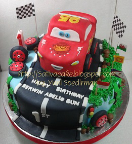 The cars cake 3D pesanan bu cherry