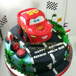 The cars cake 3D for Berwin