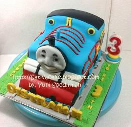 thomas cake 3D pesanan mbak maria