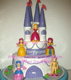 Kastil cake 3D buat Rayyana