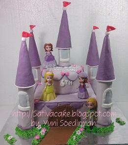 Kastil cake buat ultah si kembar
