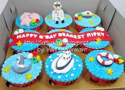 cup cake pelaut 3d