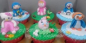 cup cake 3d karakter kartun
