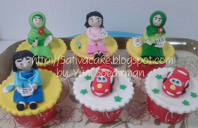 cup cake karakter 3D