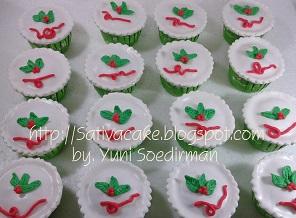 cup cake tema natal