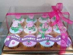 cup cake set pesanan mas glory