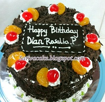 Rainbow Foprest cake pesanan pak Arif