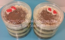Tiramisu cake in jar pesanan mba sari