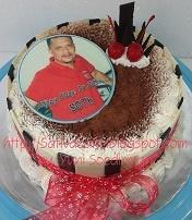 Tiramisu cake dengan edible Foto