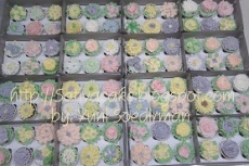 Flower cup cake (buttercream)